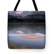 Partially Frozen Spillway Lake At Tote Bag