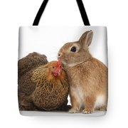 Partridge Pekin Bantam With Rabbit Tote Bag