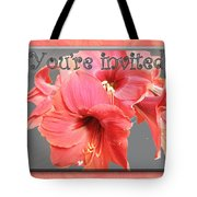 Party Invitation - Amaryllis Flowers Tote Bag