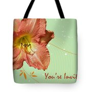 Party Invitation - Orange Day Lily Tote Bag