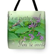 Party Invitation - General - American Beautyberry Shrub Tote Bag by Mother Nature
