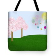 Party Over The Hill Tote Bag