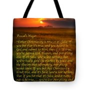 Pascal's Wager Tote Bag