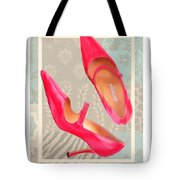 Passion Pink Strapped Pumps Tote Bag