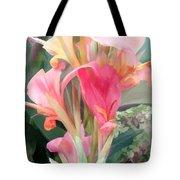 Pastel Pink Cannas Tote Bag