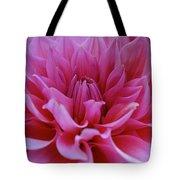 Pastel Pink Dahlia Tote Bag