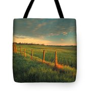 Pasture Sunrise Tote Bag