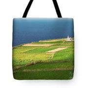 Pastures And Lighthouse Tote Bag