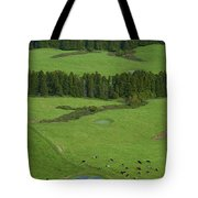 Pastures In Azores Islands Tote Bag