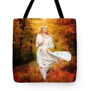 Path Of Fall Tote Bag by Mary Hood