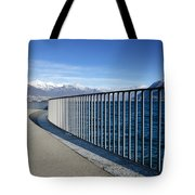 Path On An Alpine Lakefront Tote Bag
