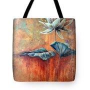Patina Lotus Tote Bag