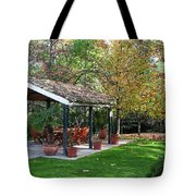 Patio Dining Madrid Tote Bag