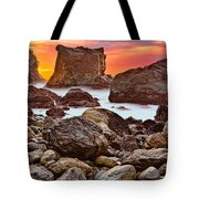 Patrick's Point Sunset Seastacks Tote Bag