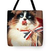Patriotic American Ragdoll Tote Bag