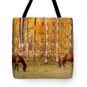Patriotic Autumn Tote Bag