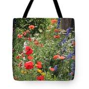 Patriotic Flowers Tote Bag