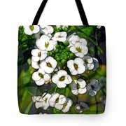 Pattern In Green And White Tote Bag