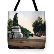 Paul Riquet Statue And The Allees In Beziers - France Tote Bag