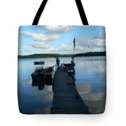 Peace On The Lake Dock Tote Bag