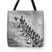 Peace Pipe Ceremony, 1718 Tote Bag
