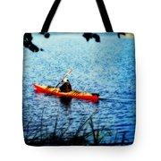Peaceful Canoe Ride Ll Tote Bag