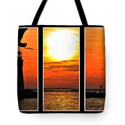 Peaceful Sunset Triptych Series Tote Bag