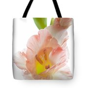 Peach Flushed Gladiolus Tote Bag