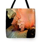 Peach Iris Digital Art Tote Bag