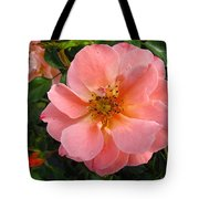 Peach Rose Tote Bag
