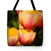 Peachy Tulips Tote Bag