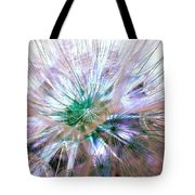 Peacock Dandelion - Macro Photography Tote Bag