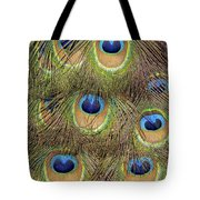 Peacock Feather Eyes Tote Bag