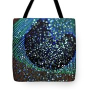 Peacock With Bling Tote Bag