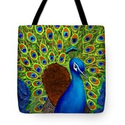 Peacock's Delight Tote Bag by The Art With A Heart By Charlotte Phillips