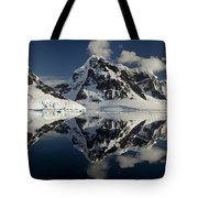 Peaks Along  Neumayer Channel Tote Bag