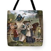 Peddlers Wagon, 1868 Tote Bag