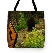 Pedestrian Crossing My Big Bear Booty Tote Bag