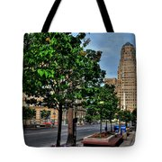 Pedestrian View Of City Hall Horizontal  Tote Bag