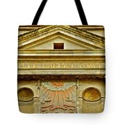 Pediment Of Oldest High School In France Tote Bag