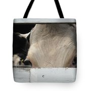 Peek-a-boo Cow Tote Bag