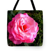 Peek-a-boo Rose Square Tote Bag