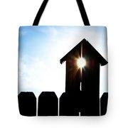 Peeking Sunlight Through A Birdhouse Tote Bag