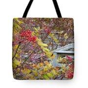 Peeking Through The Berries Tote Bag
