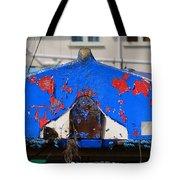 Peeling Blue Tote Bag