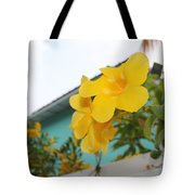 Peeping Over The Fence Tote Bag