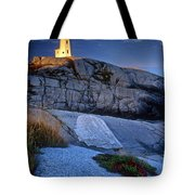 Peggys Cove Lighthouse Nova Scotia Tote Bag