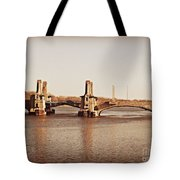 Pelham Bridge In Sepia Tote Bag