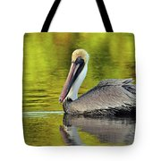 Pelican On A Golden Pond Tote Bag
