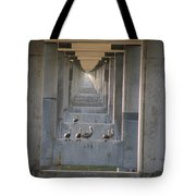 Pelican Perch With Seven Mile Perspectives Tote Bag